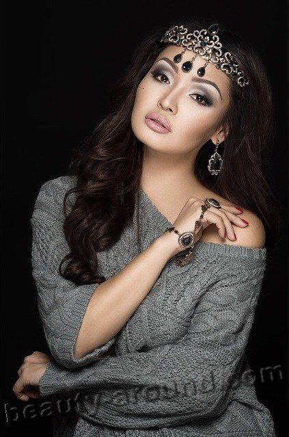 Asha Matai most beautiful Kazakh woman photo