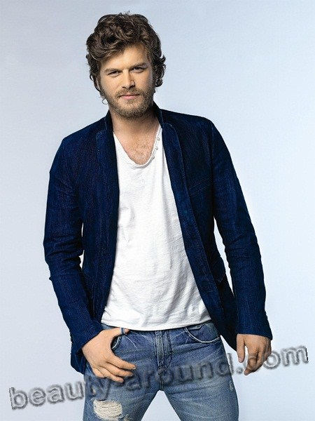 Kivanc Tatlitug Turkish actor, model, picture with a beard