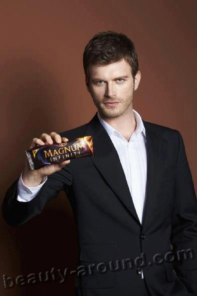 Kivanc Tatlitug Turkish actor,Photo of Magnum ice cream advertising