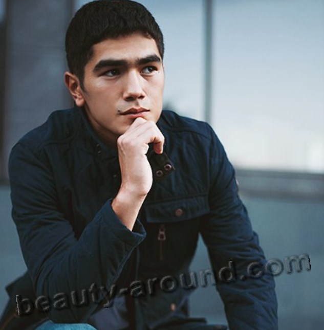 Kurmanbek Muratbekov Kyrgyz male model photo