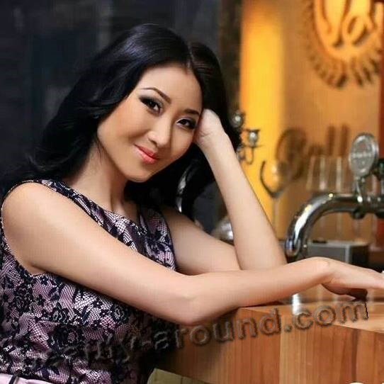 Nazira Aytbekova beautiful Kyrgyzstan TV presenter photo