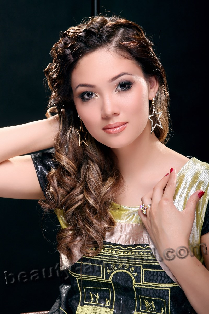 Angelica Bekbolieva most beautiful Kyrgyzstan woman photo