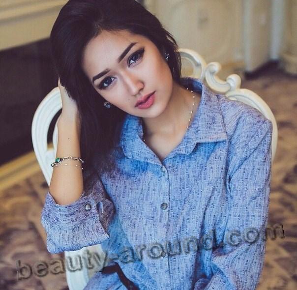 Мадина Шафатова красивая кыргызская модель фото