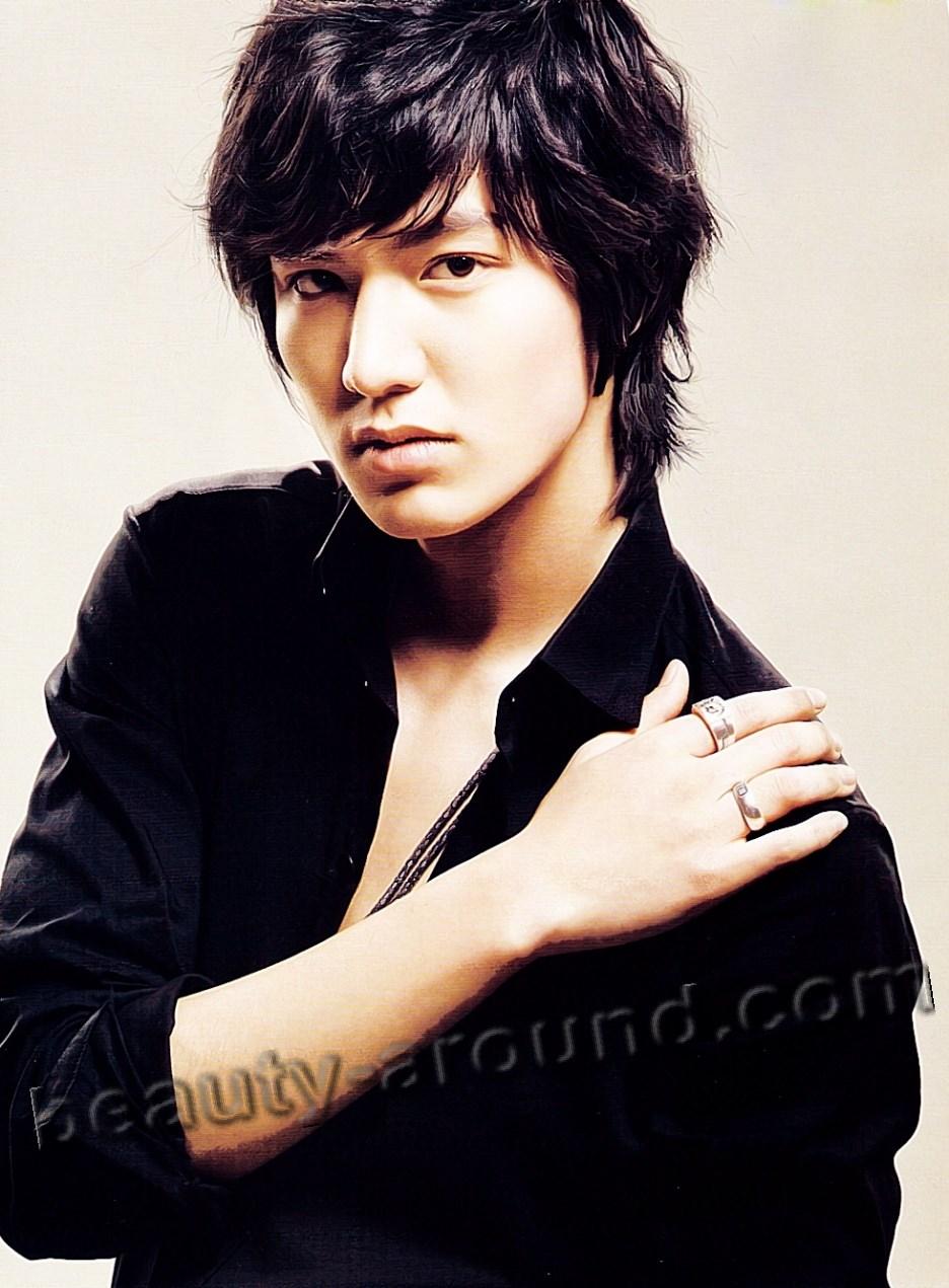 Ли Мин Хо в чёрном фото
