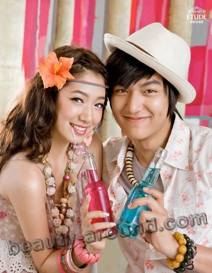 Ли Мин Хо и Пак Шин Хё в рекламе фото