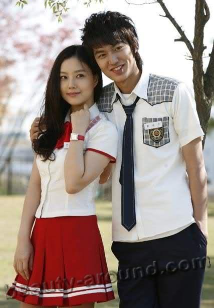Ли Мин Хо с партнёршей Пак Бо Ен фото вместе
