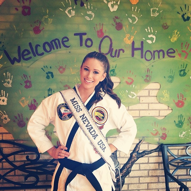 Nia Sanchez black belt of taekwondo