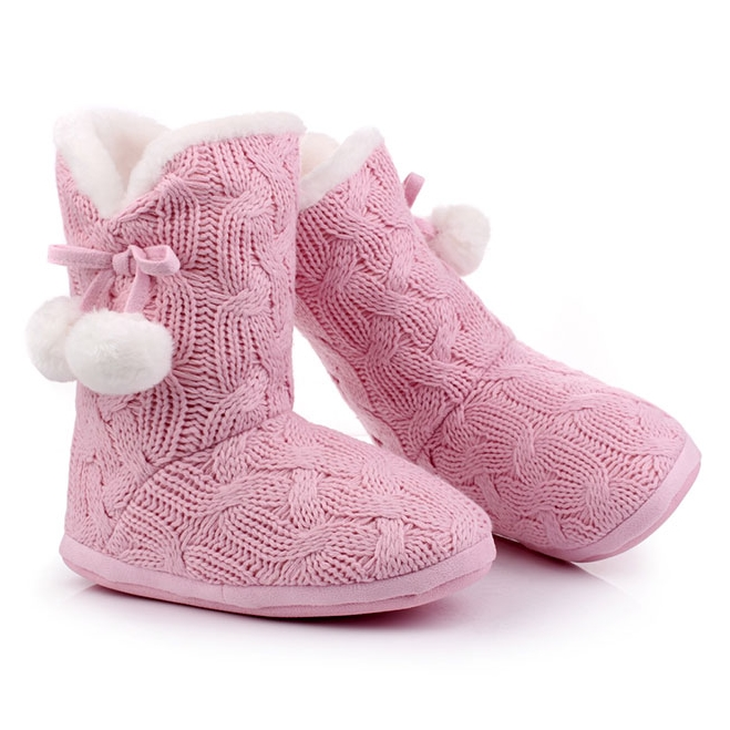 rose homemade knitted ugg boots