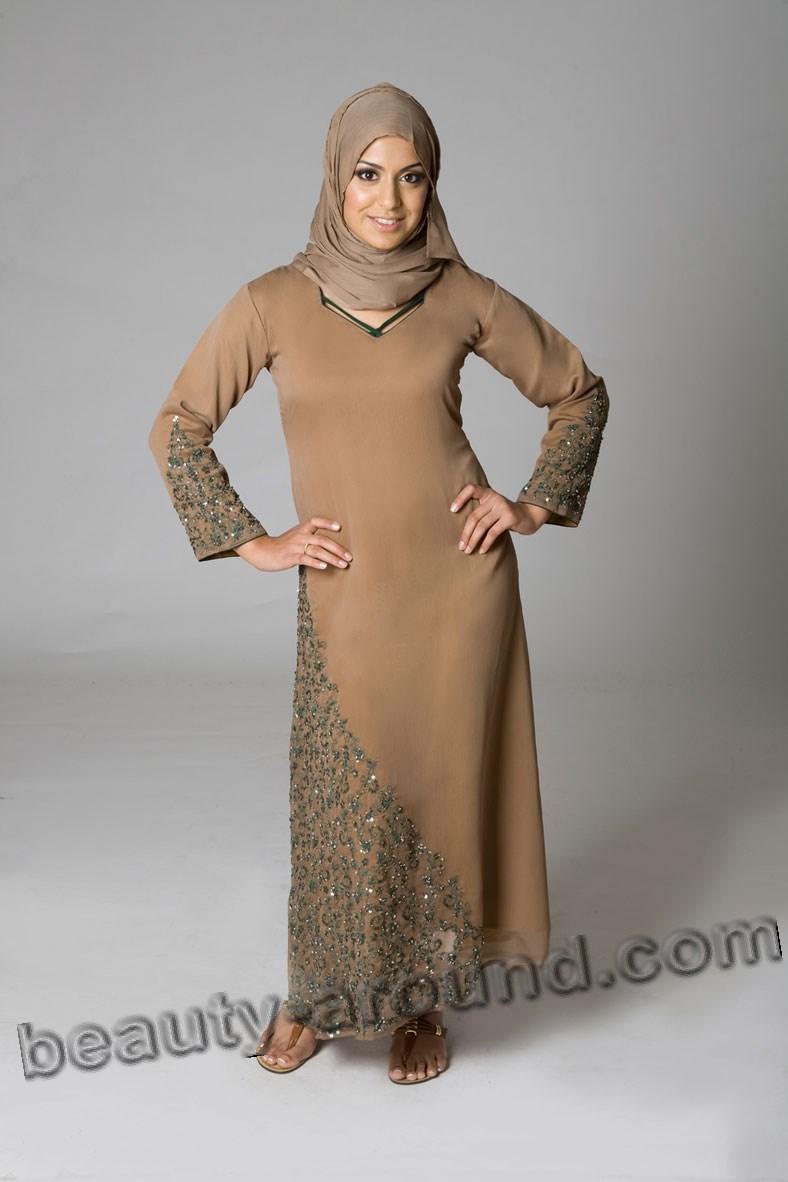 Muslim abaya with hijab