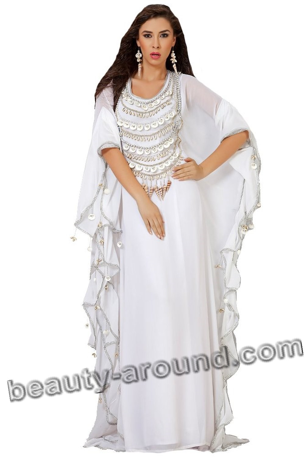 White wedding abaya photo