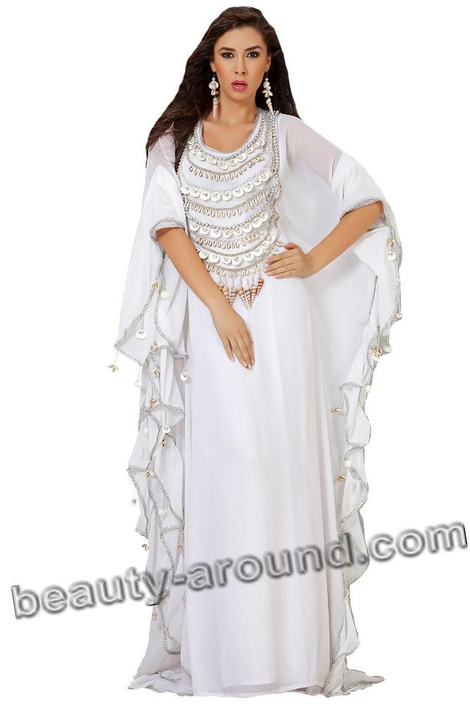 Белая свадебная абайя фото
