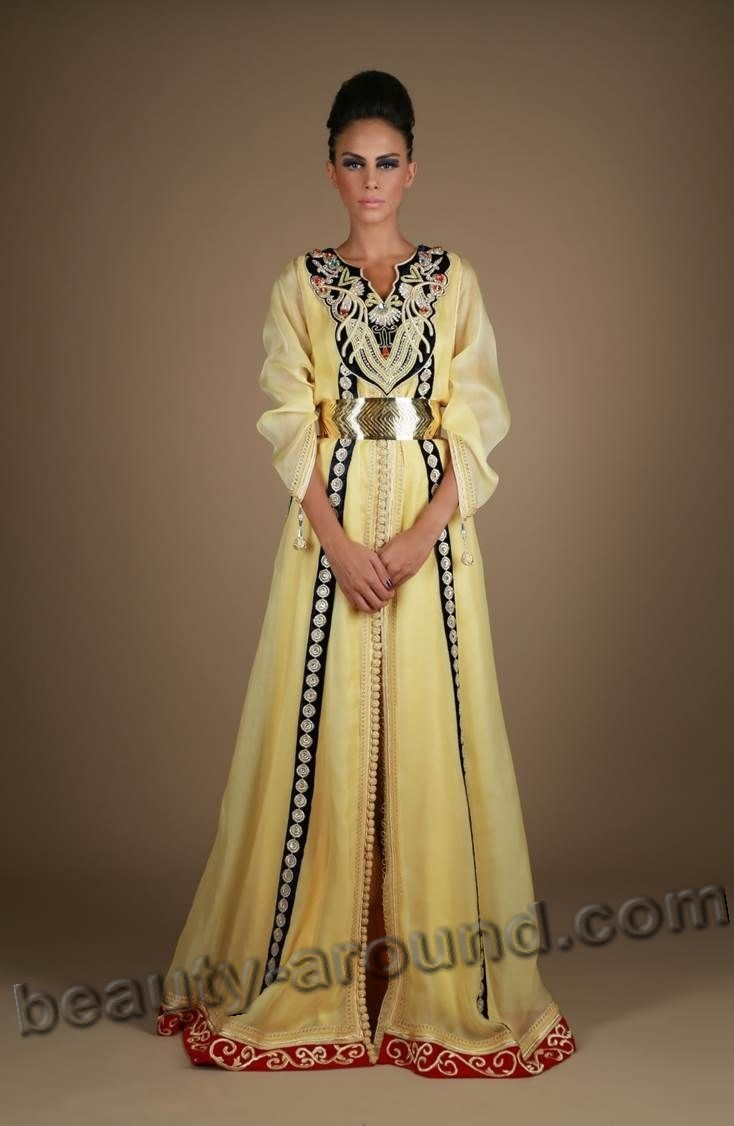 Beautiful Muslim dress caftan photo