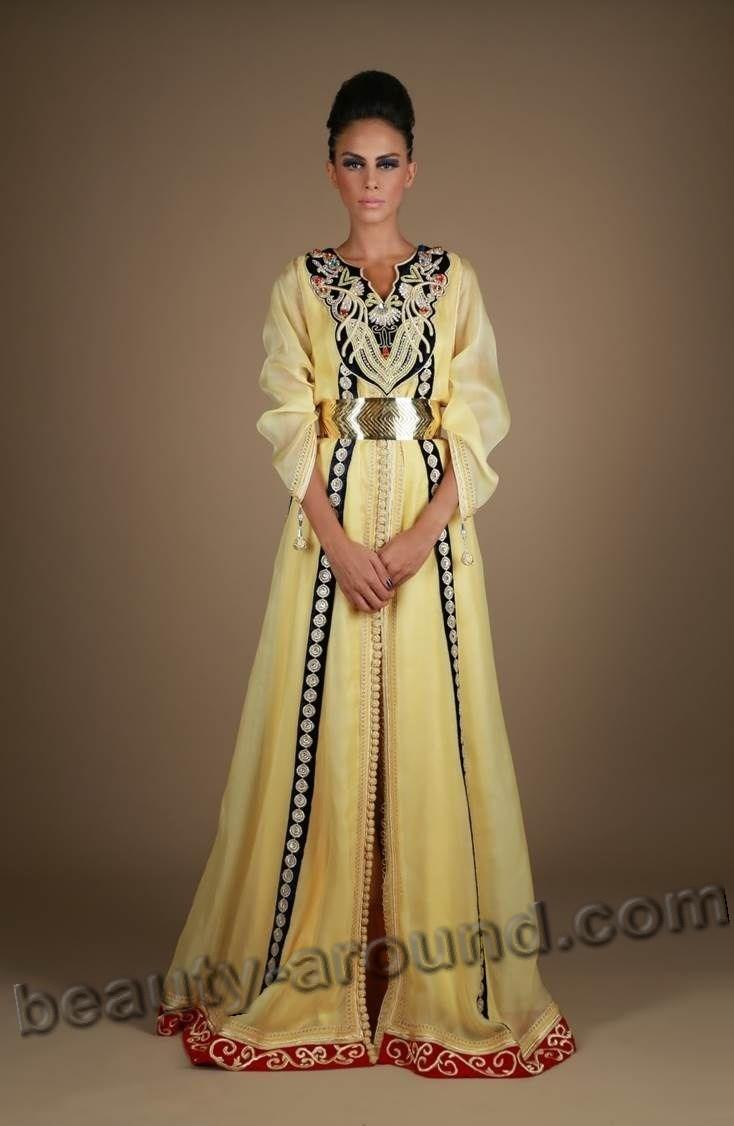 Жёлтый мусульманский кафтан фото