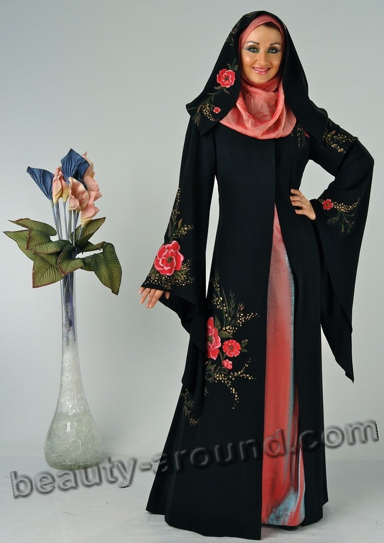 Photo of black abaya with hijab
