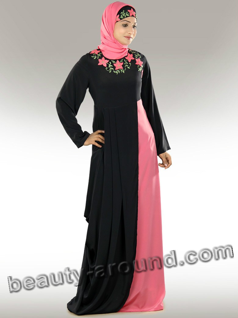black abaya with hijab