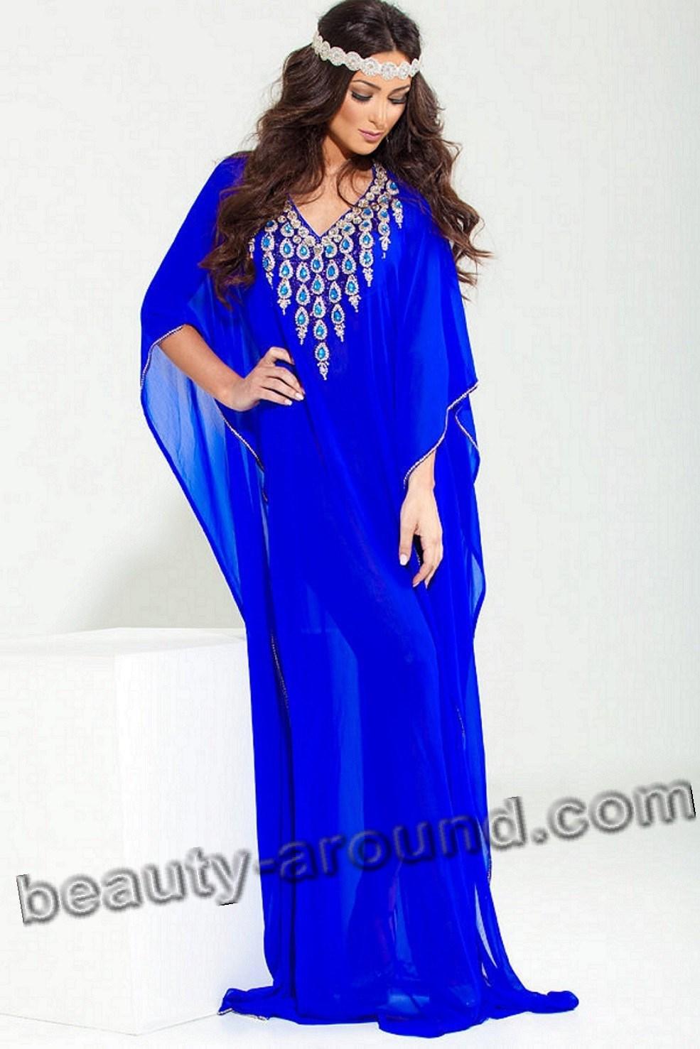 Синяя абайя фото
