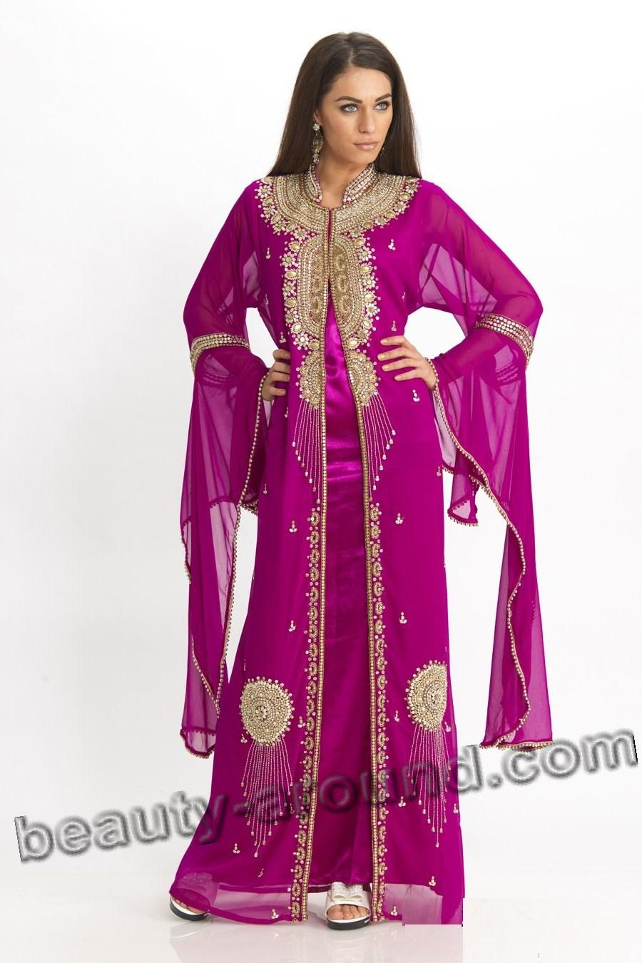Красивый арабский кафтан фото