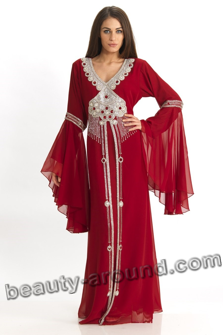 Muslim women silk caftans pictures