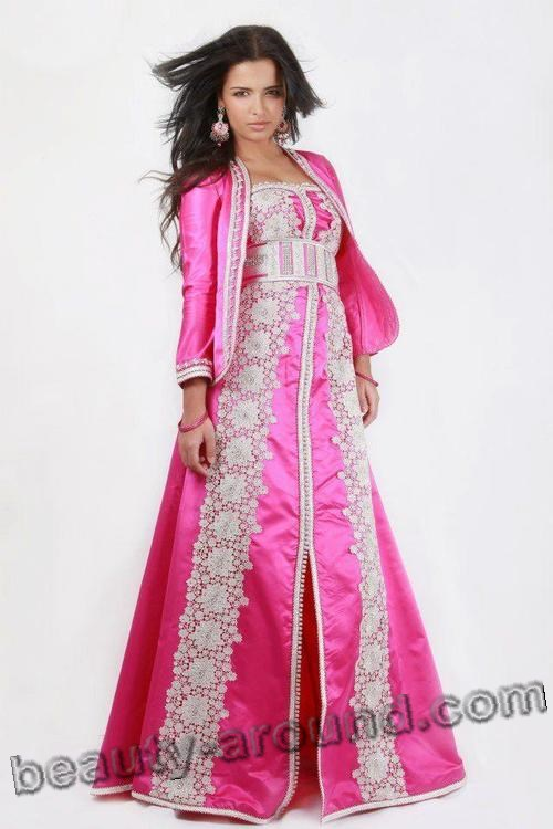 Rose Muslim kaftans for girls photo