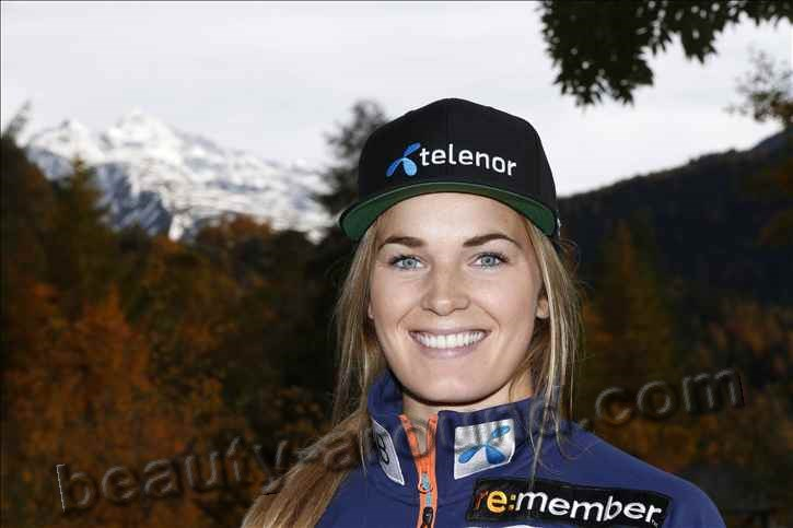 Beautiful Norwegian women. Nina Loseth is a Norwegian alpine skier photo