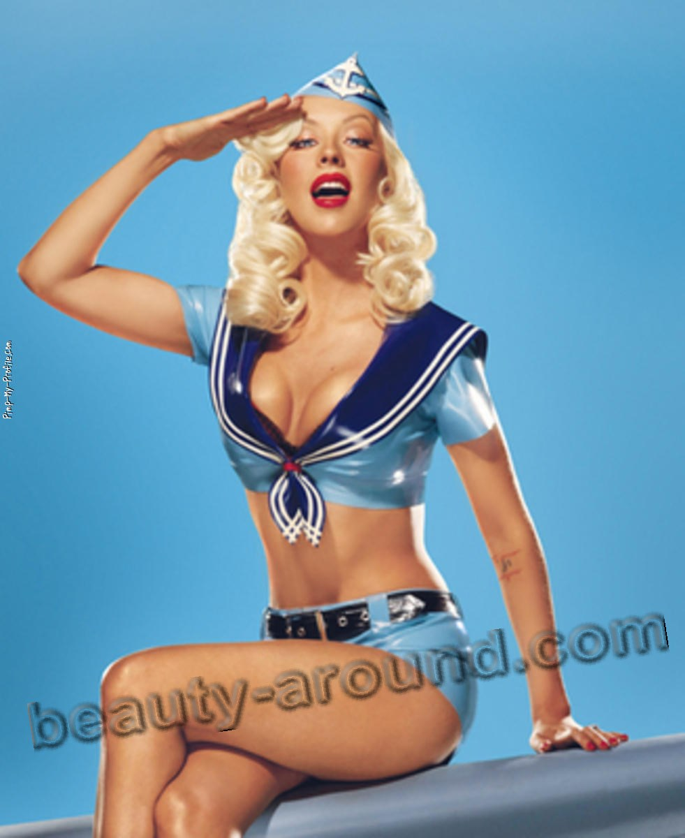 Christina Aguilera pin-up singer photo