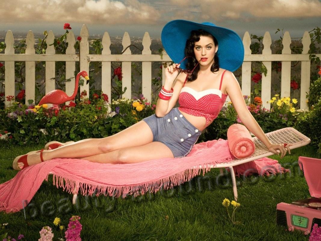 Кэти Перри / Katy Perry в стиле пин-ап фото