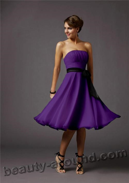 best purple evening dress