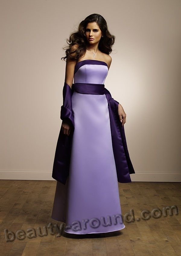 long purple evening dress