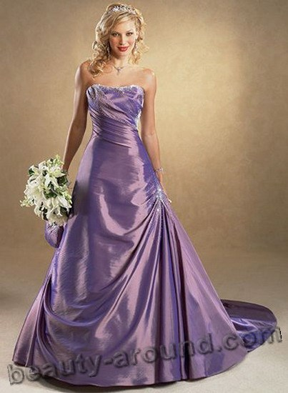 purple evening dresses for wedding