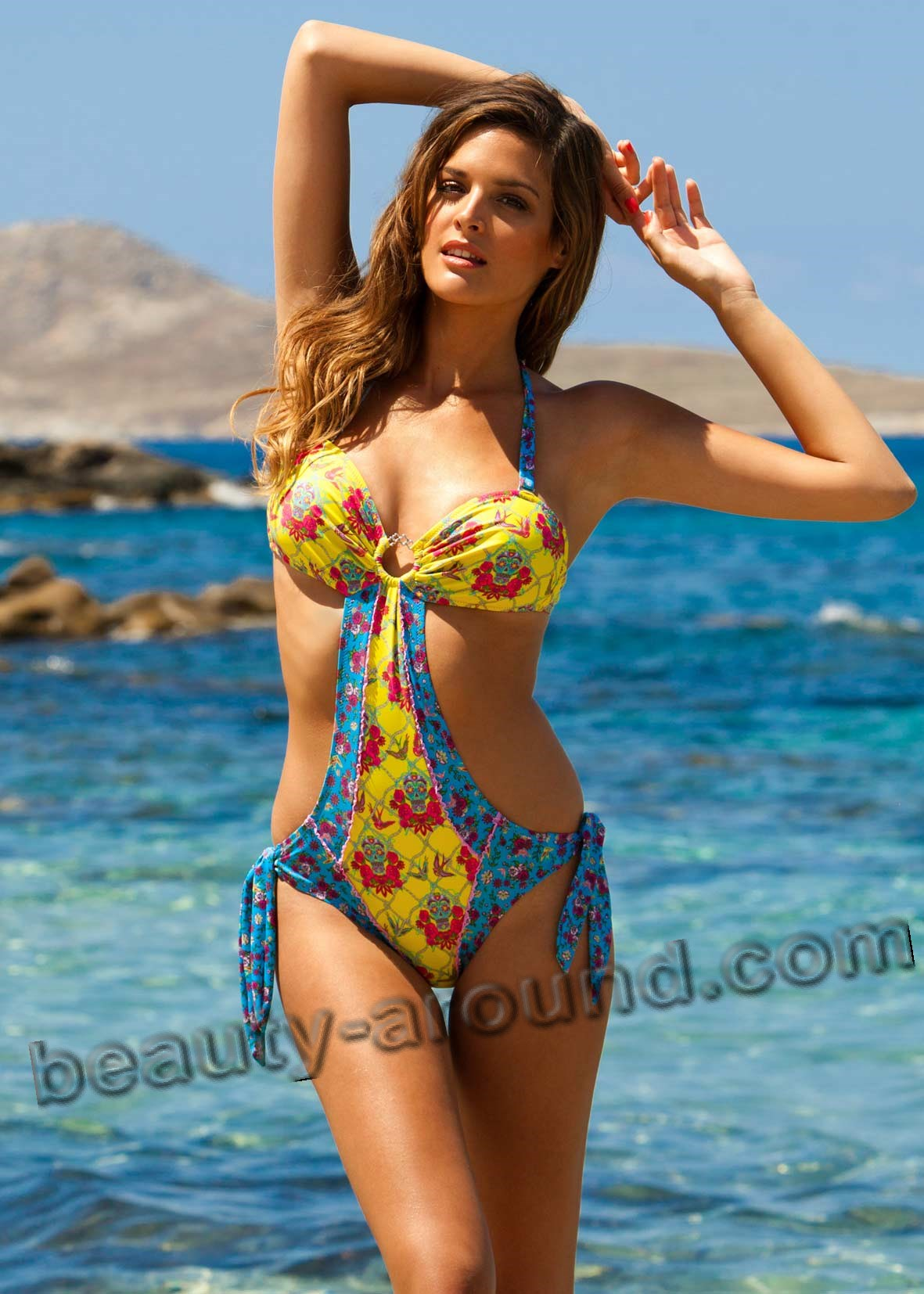 Stylish colorful swimsuit photo