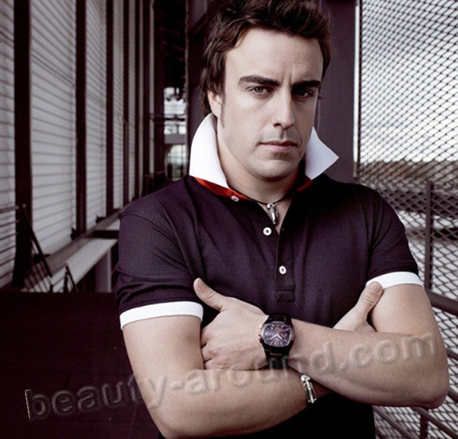 Fernando Alonso Diaz handsome Spanish racing driver
