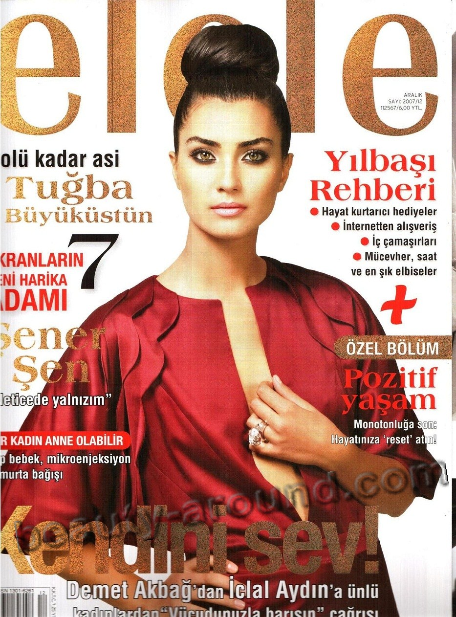 Tuba Büyüküstün / Tuba Buyukustun, Turkish actress, photo from magazines
