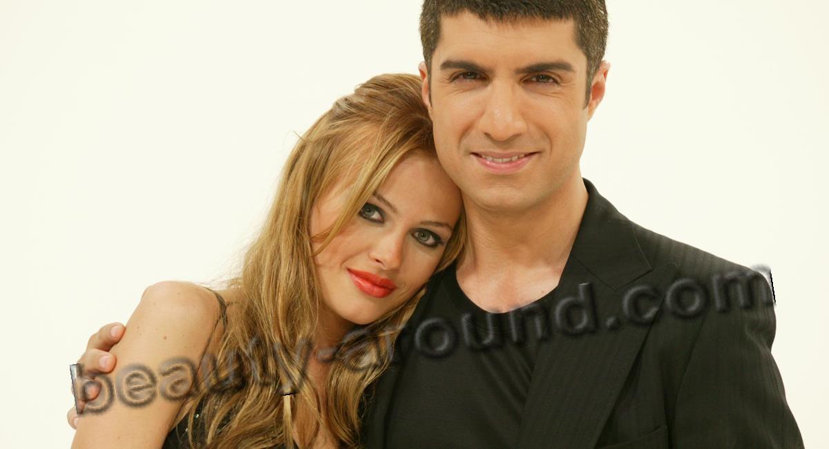 Турецкая экранная пара Наз Эльмас и Озджан Дениз фото