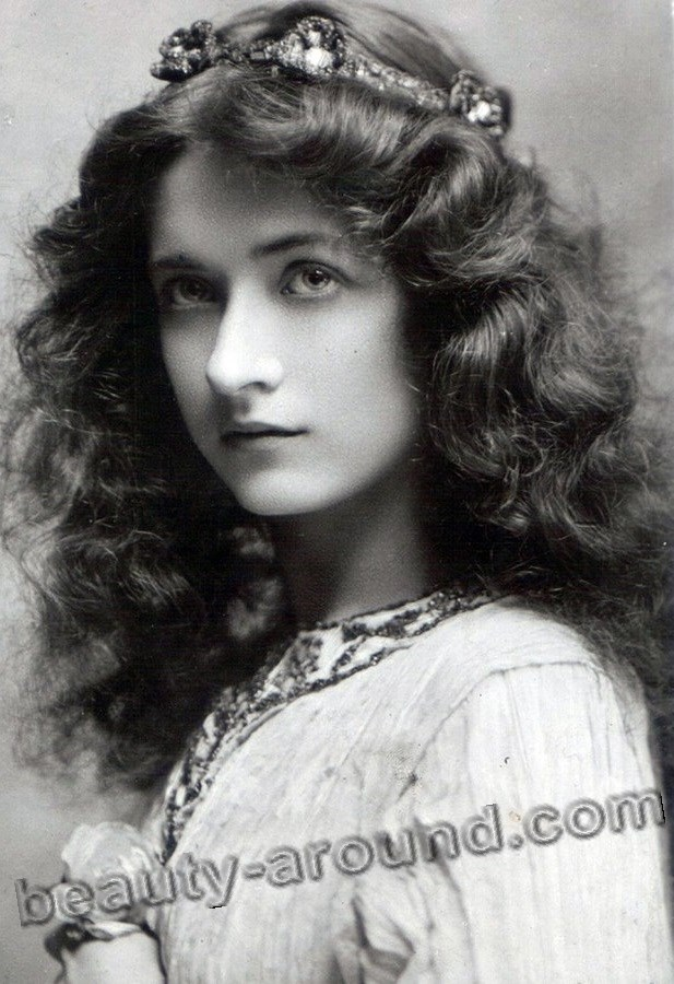 Vintage photo of a girl with her hair