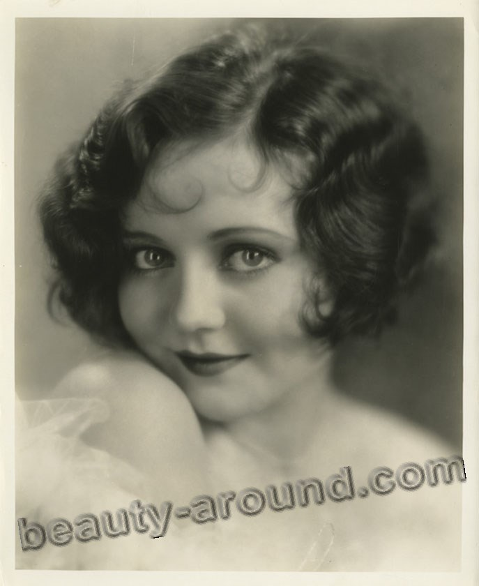 Vintage portrait of a beautiful actress