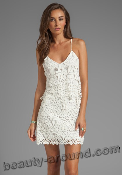 short white lace dress photos