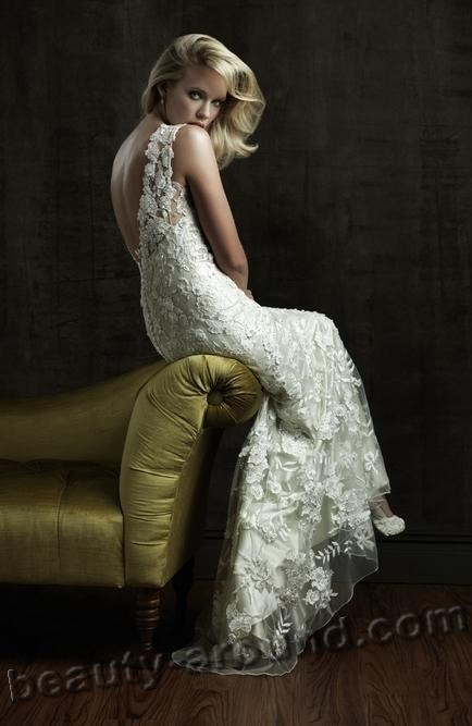 whte lace wedding dresses