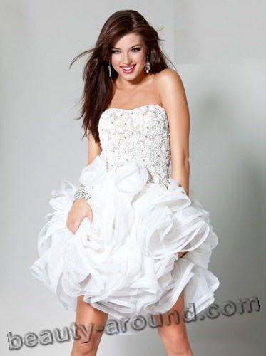 wedding white lace dress