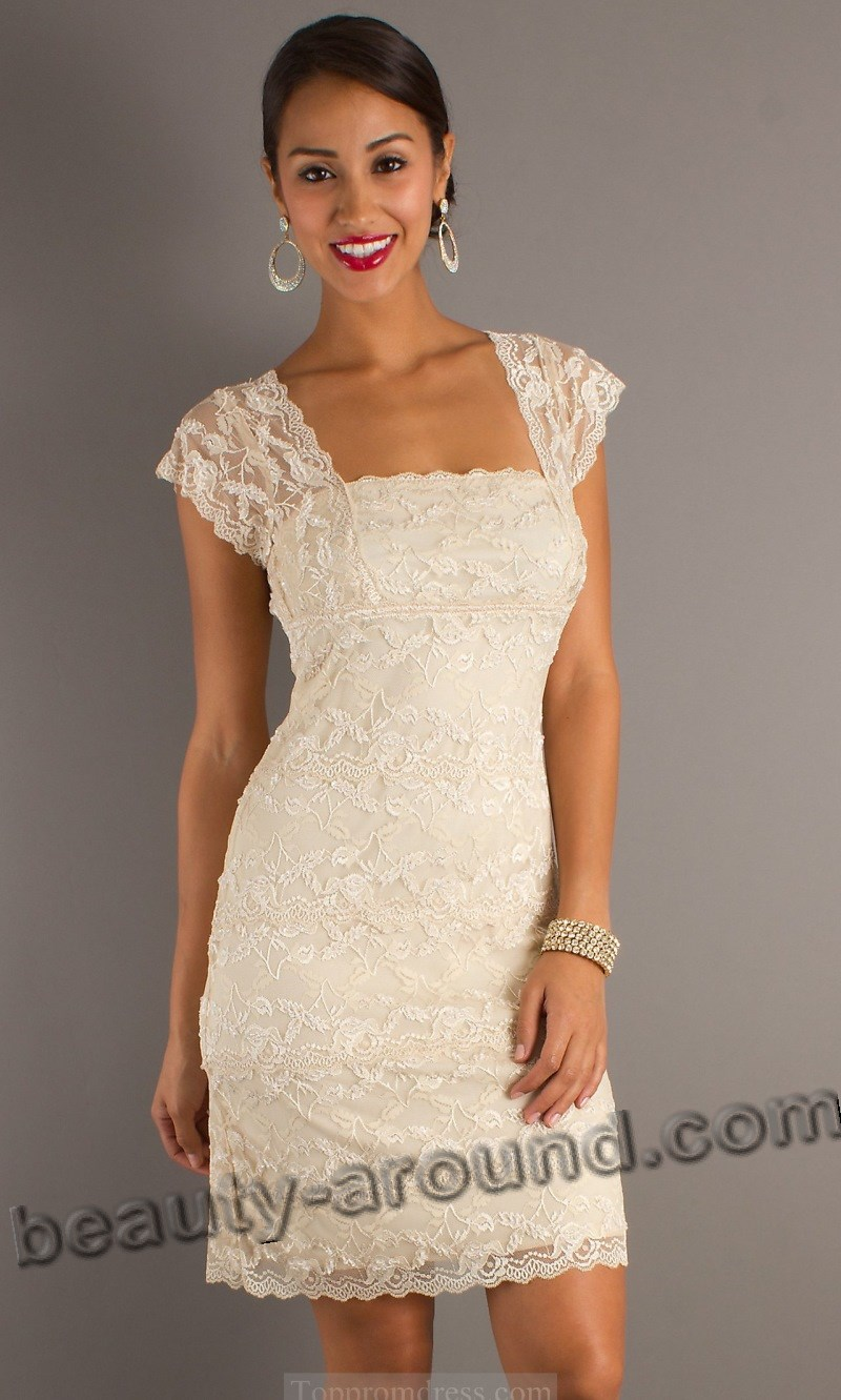 elegant white lace dress photos
