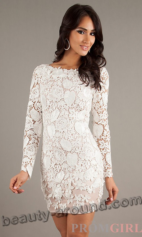 cute short white lace dress