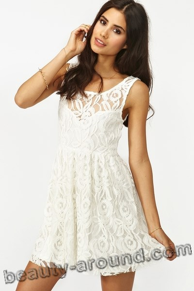 white lace dress for party