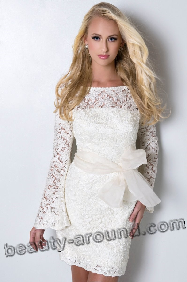 small wedding lace dress