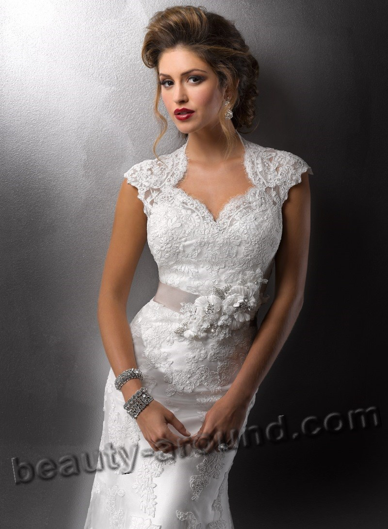 white lace dresses for wedding