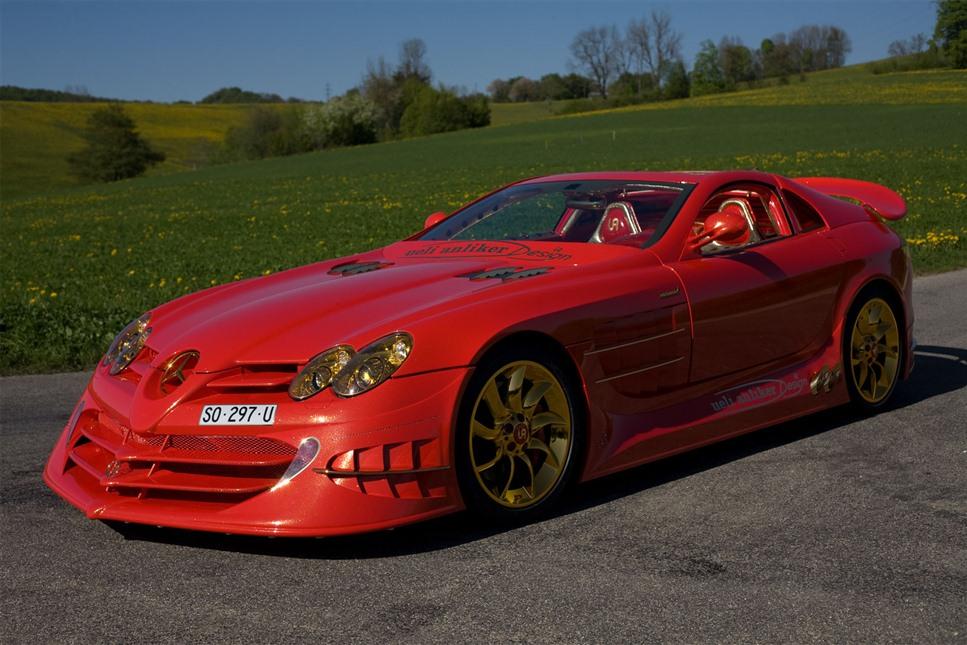 Самый дорогой автомибиль в мире Mercedes-Benz SLR McLaren 999 Red Gold Dream Ueli Anliker фото
