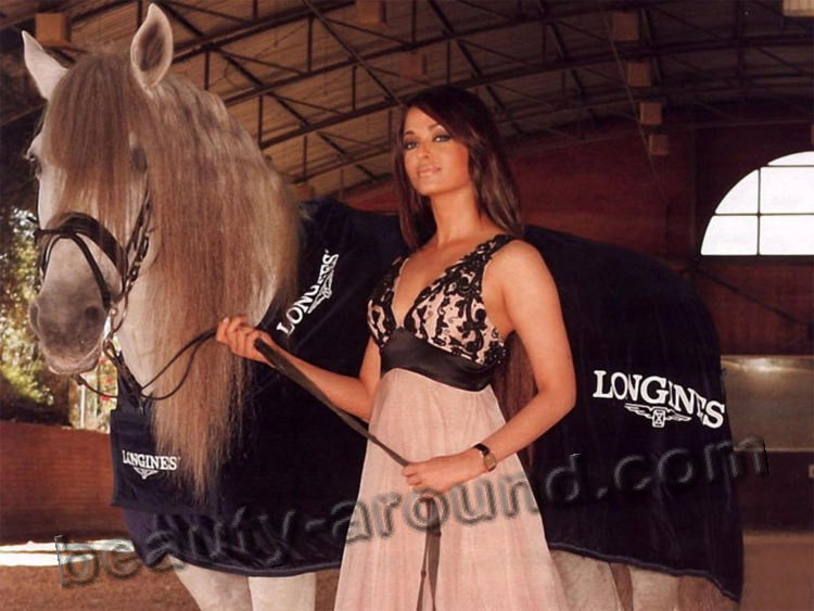 Aishwaria Rai advertising with a horse photo