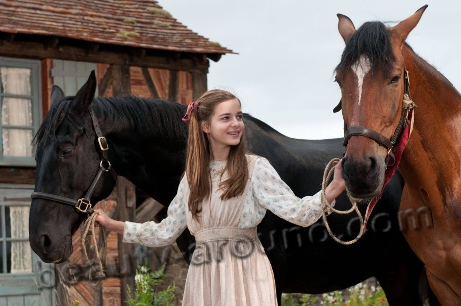 Celine Buckens in the film War Horse