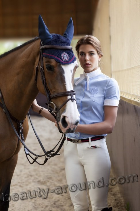 Charlotte Casiraghi with horse photos