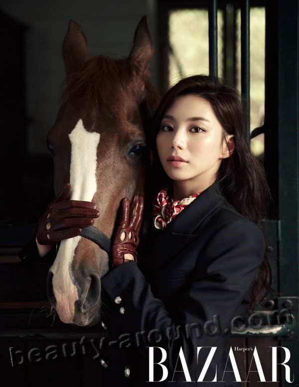 Park Soo Ae photo of a horse magazine