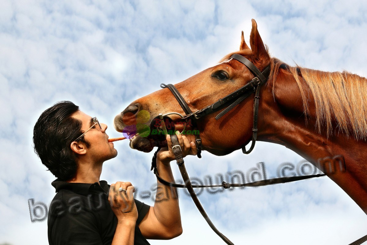 Randeep Hooda photo with horse