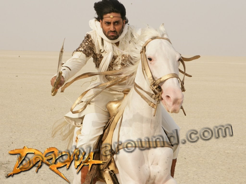 Abhishek Bachchan on the hors from Drona photo